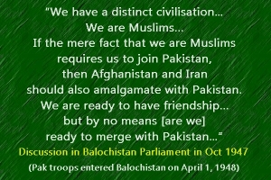 Balochistan and Pak occupation