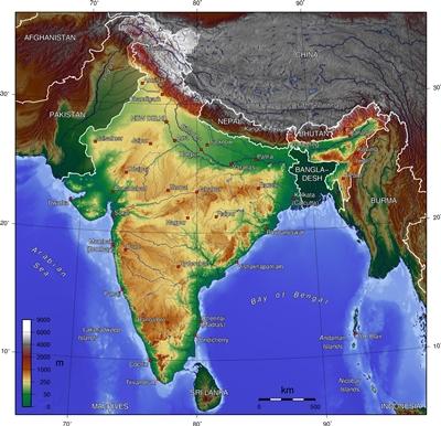 India topo map1