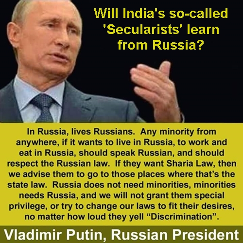 Indian secularists should learn from Russia Putin