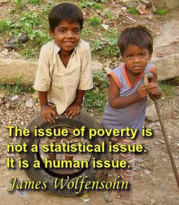 Poverty is a human development issue