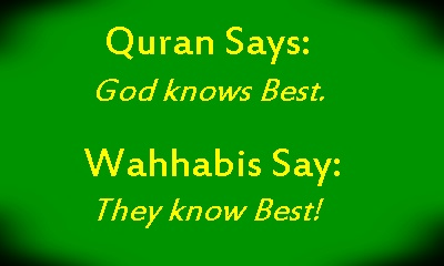 quran and wahhabi know best