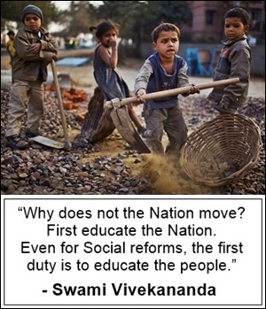 Vivekananda ask: Why doesn't the nation move?