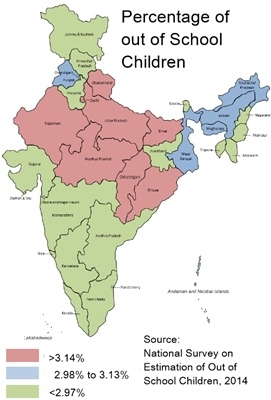 Out of school children are serious problem for populous State like Up, Bihar, MP, Odisha.