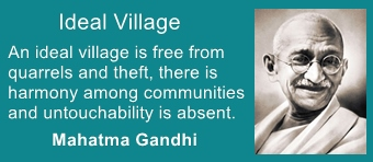 An ideal village has peace and harmony among people