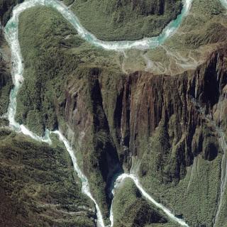 Brahmaputra river gorge