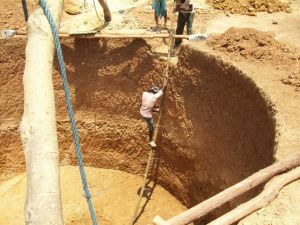 A well constructed by NREGA workers