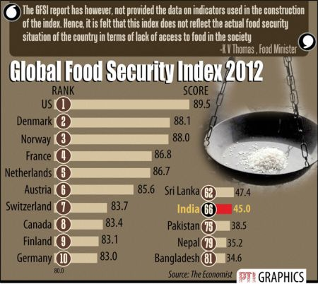 hunger and food security in issues of  global food security index 2012 s