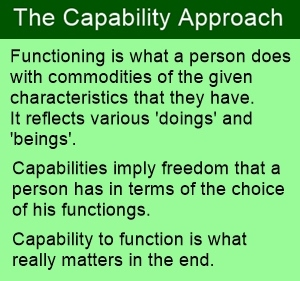 Functionings and capabilities are at the core the capability approach