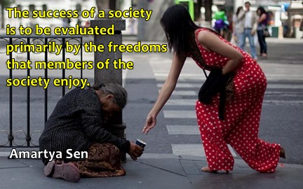 society's success freedom - sen