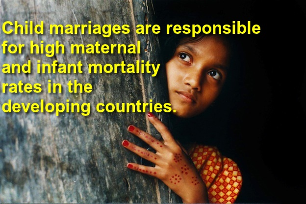 child marriages high MMR IMR