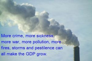 pollution increases GDP