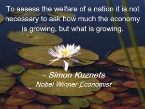 Simon Kuznets - what is growing