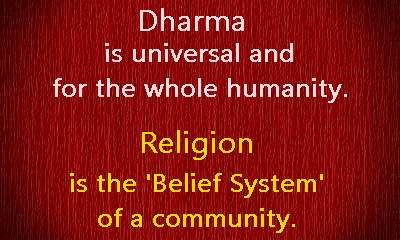 world needs more dharma and less religion issues of  dharma and religion in