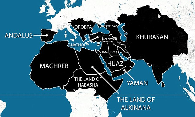 ISIS caliphate map