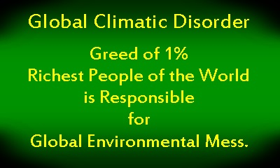 Climate change Curse of 1 percent people