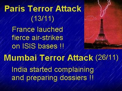 Paris Mumbai attack comparison