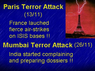 Paris Mumbai attack comparison