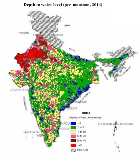 Alarming Fall In Groundwater Levels In India   Issues and ...