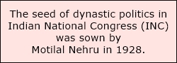 dynastic rule in Congress