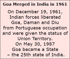 Goa merged in India