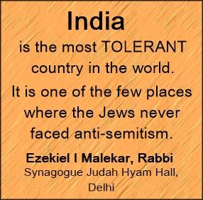 India is very tolerant