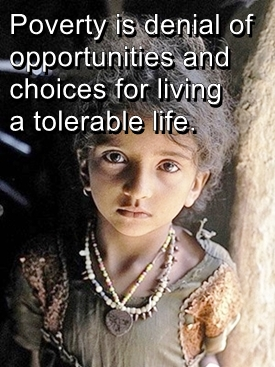 poverty is denial of choices