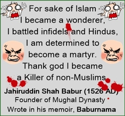 Babur was a barbarian Muslim; foreign historians try to show him as civil.