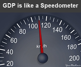 The GDP is just like a speedometer