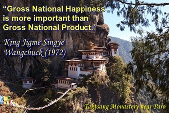 Bhutan's gross national happiness is unique