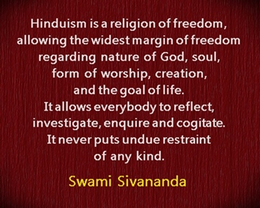 Hinduism is a religion of freedom