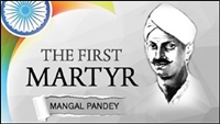 Mangal Pandey became the first martyr in 1857 rebellion