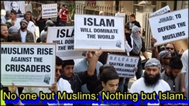 No one but Muslims; nothing but Islam