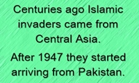After 1947, Islamic barbarians started coming from Pakistan