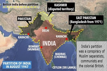 India's partition was a conspiracy involving the Muslim League, Communists and the British.