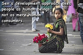 Amrtya sen's development approach sees people as human beings