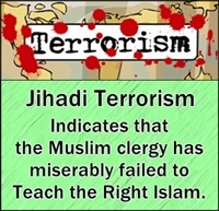 Muslim clergy must get all the blame for not teaching peaceful version of Islam.
