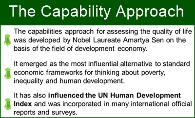 The capability approach is enriching many ares of development