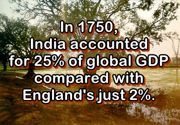 India, a rich country, was plundered by poor British robbers