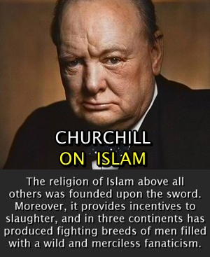 Islam was founded upon sword; it provides incentives to slaughter and promotes fanaticism.