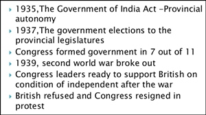 The Government of India Act 1935 gave almost complete autonomy to the provinces.