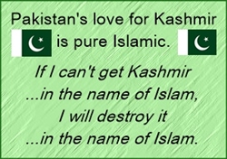 Pakistan's love for Kashmir is purely Islamic.