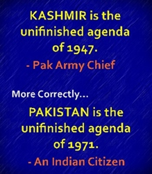Fragmentation of Pakistan is the best solution of Kashmir problem.