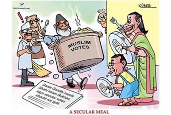 Secularism means Muslim appeasement for vote bank politics.
