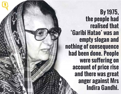 Indira Gandhi failed in solving national problems and imposed emergency