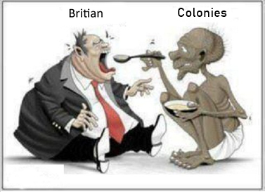 colonies feeding Britain