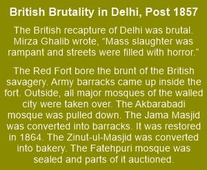 Post 1857 mutiny, the British became savage