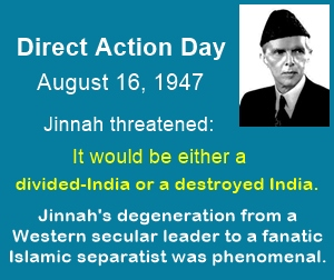 Direct action day had an Islamic twist - weird for a leader with a secular outlook.