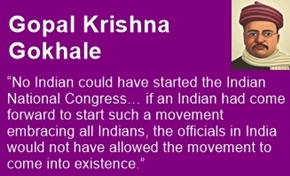 Gopal Krishna Gokhale was a moderate Congress Leader