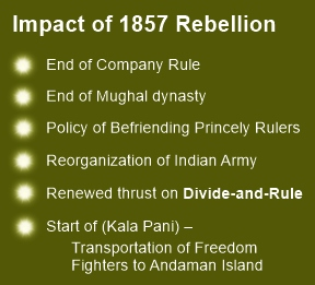 The 1857 rebellion changed the way British India was governed