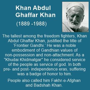 """Khan Abdul Ghaffar Khan was a true Gandhian, known as """"Frontier Gandhi"""" and Badshah Khan"""
